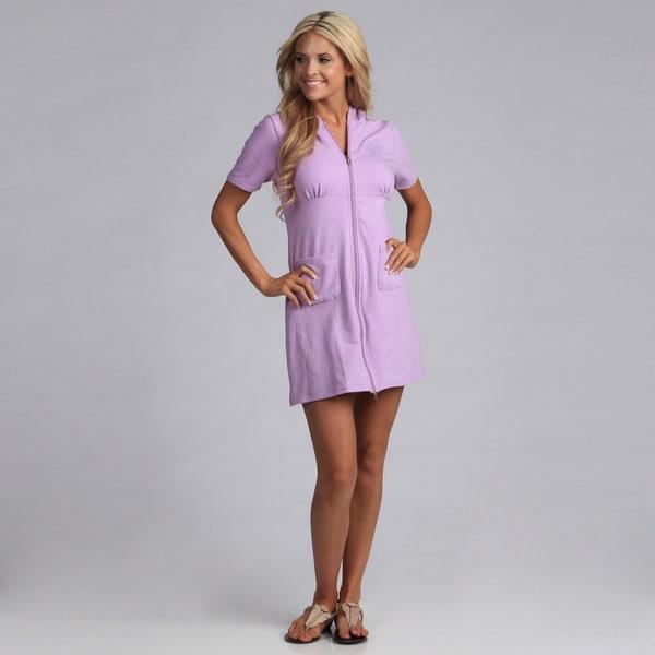 Yogacara Women's Cotton/Spandex Short Hooded Dress