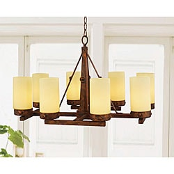 Antique Copper 8-light Linear Chandelier