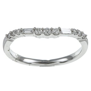 Eloquence 14k White Gold 1/4ct TDW Diamond Curved Ring (G-H, I1)