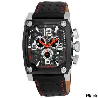 Akribos XXIV Men's Leather-Strap Swiss-Quartz Chronograph Watch