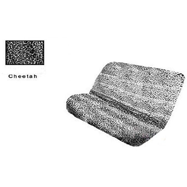 Grey Cheetah Print Bench Seat Cover