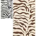 nuLOOM Handmade Zebra Animal Pattern Wool Rug (5' x 8')