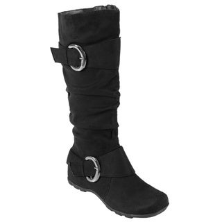 Bamboo from Rayon by Journee Women's 'Jester-01' Slouch Boots with Buckle