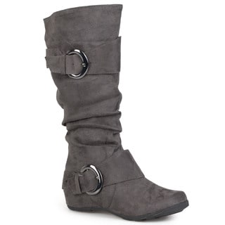 Journee Collection Women's 'Jester-01' Regular and Wide-calf Slouch Buckle Boot