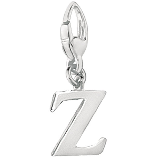 Sterling Silver Letter 'Z' Charm