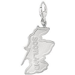Sterling Silver Scotland Charm