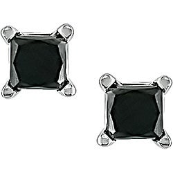 Miadora 14k Gold 1/3ct TDW Black Diamond Stud Earrings