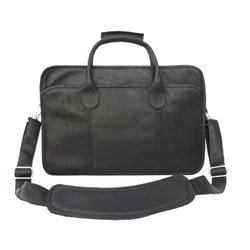 Piel Top Grain Leather Simple Portfolio Briefcase