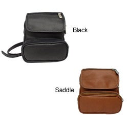 Piel Top Grain Unisex Hip-mounted Padded Leather Travel Waist Bag
