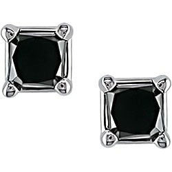 Miadora 14k Gold 1/4ct TDW Black Diamond Earrings