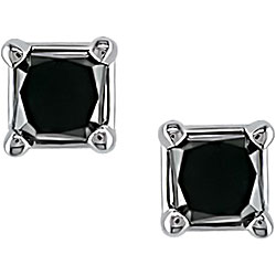 M by Miadora 14k Gold 1/4ct TDW Black Diamond Earrings