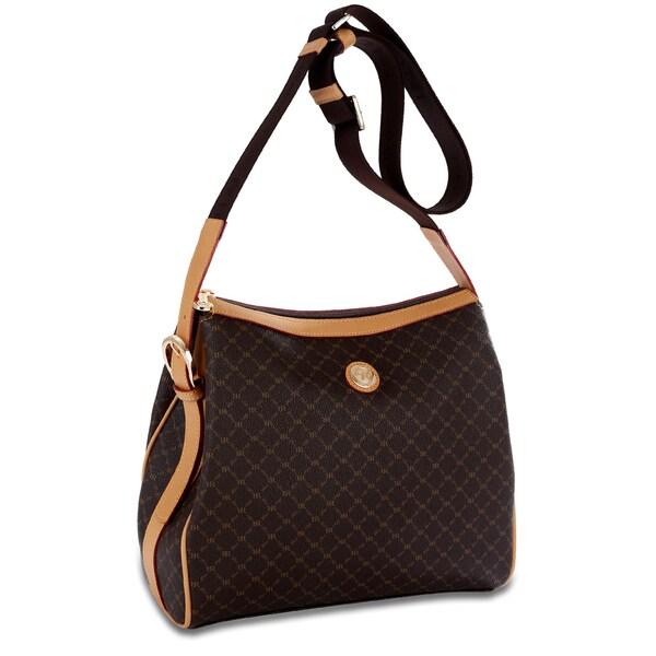 Rioni Signature Zip-top Messenger Handbag