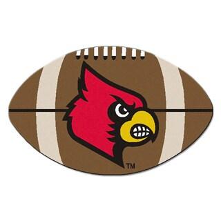 Fanmats NCAA University of Louisville Football-shaped Mat