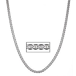 Simon Frank  Rhodium  Silvertone 18-inch Gucci-style Necklace