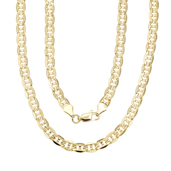 Simon Frank 14k Yellow Gold Overlay 6mm Gucci-style Chain (18-inch)