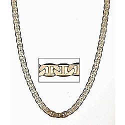 Simon Frank 14k Yellow Gold Overlay 20-inch Gucci-style Necklace