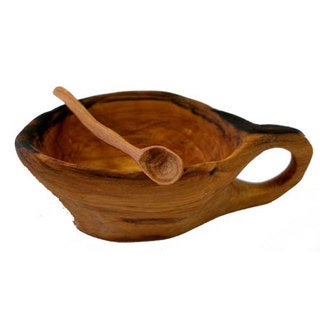 Miniature Olive Wood Spice Bowl (Kenya)
