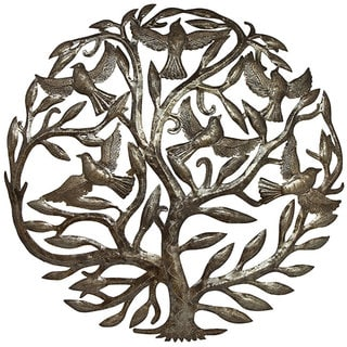 Metal 'Tree of Life' Oil Drum Art (Haiti)