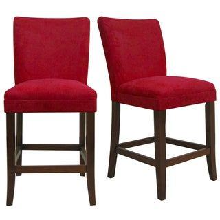 Parson Cranberry Red Counter Height Chairs (Set of 2)