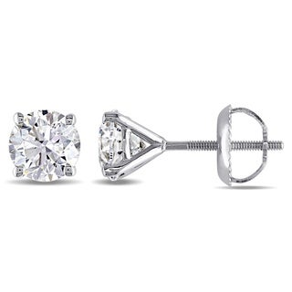 Miadora Signature Collection 14k Gold 1 1/2ct TDW Round Diamond Stud Earrings (G-H, SI2)