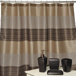 Alys Oil-rubbed Bronze Bath Accessory with Shower Curtain 4-piece Set
