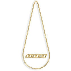 Simon Frank 14k Yellow Gold Overlay 20-inch Cuban-style Necklace