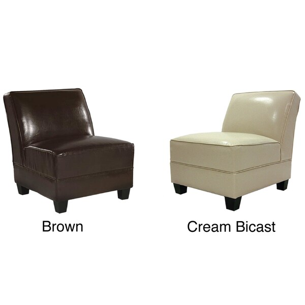Bicast Leather Canyon Club Chair