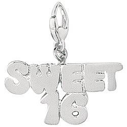 Sterling Silver Sweet 16 Charm