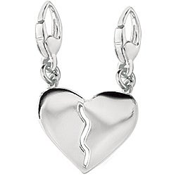 Sterling Silver Break-away Heart Charm