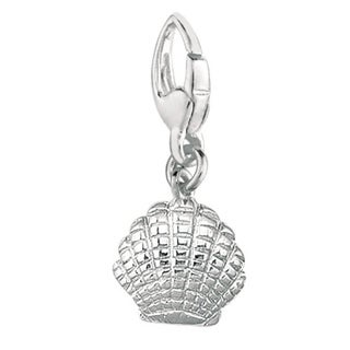 Sterling Silver Small Scallop Shell Charm