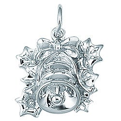 Sterling Silver Christmas Bell Charm