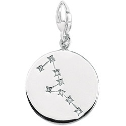 Sterling Silver Taurus Astrology Charm