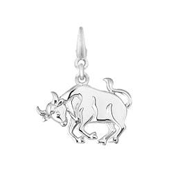 Sterling Silver Taurus Charm