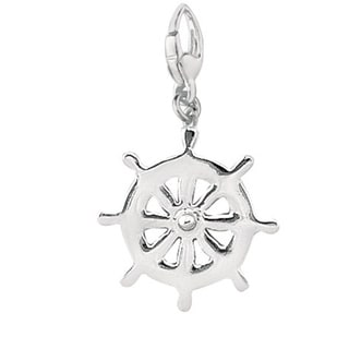 Sterling Silver Antique Boat Steering Wheel Charm