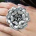 Sterling Silver 'Queen Zinnia' Ring (Thailand)