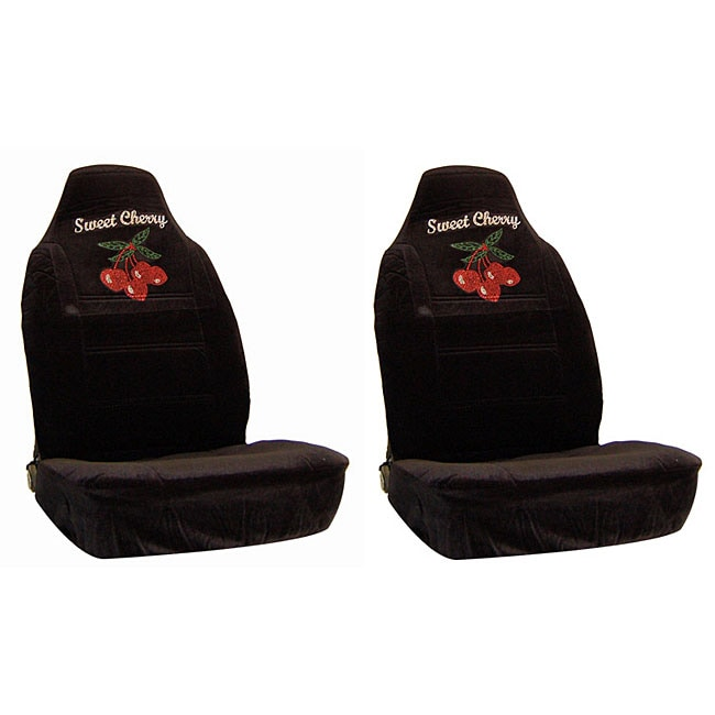Sweet Cherry Rhinestone Bucket Seat Covers (Set of 2)