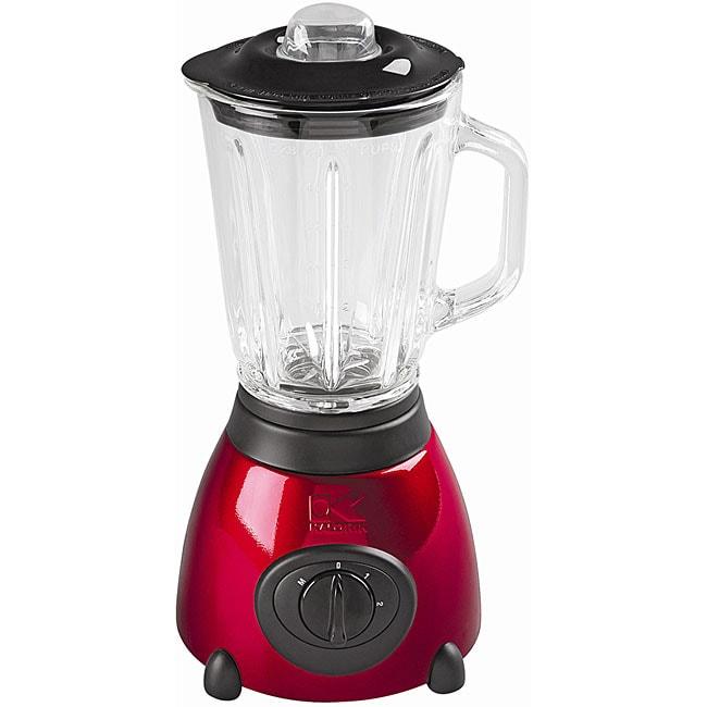 Kalorik Red Blender with Glass Jar