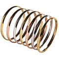 Nexte 14k Tri-tone Gold Stackable Overlay 'Semanario' Bangle (Set of 7)