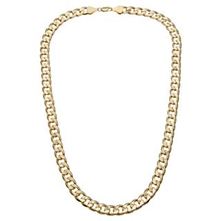 Simon Frank 14k Gold Overlay 12mm Cuban Necklace (36-inch)