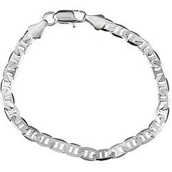 Simon Frank 14k White Gold Overlay 8-inch Gucci-style Chain Bracelet