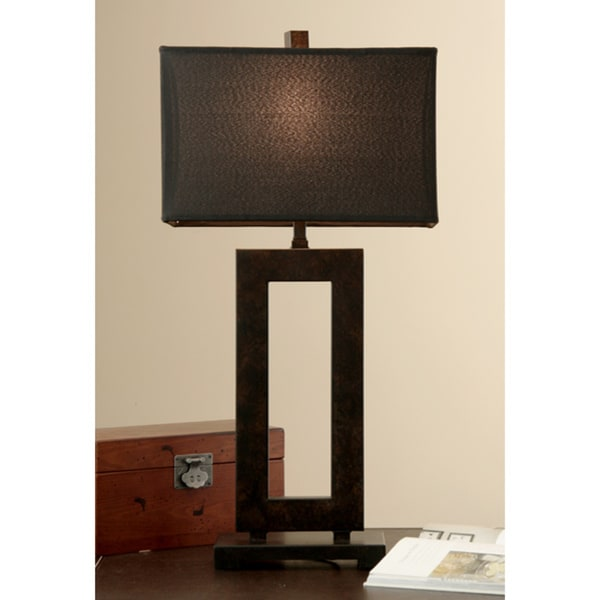 mocha metal table lamp with cream shade. Black Bedroom Furniture Sets. Home Design Ideas