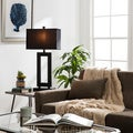 Mocha Metal Table Lamp with Dark Shade