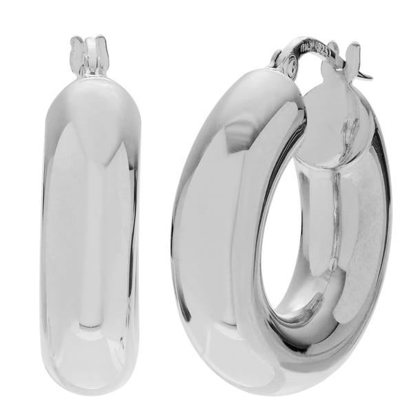 Journee Collection 11mm Hoop Earrings