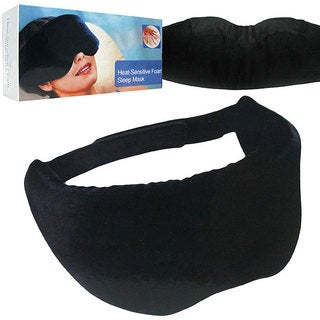 Heat-sensitive Memory Foam Black Sleep Mask