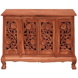 Vintage Roses Storage Cabinet/ Sideboard Buffet