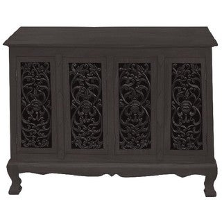 Flowers and Vines Storage Cabinet / Sideboard Buffet