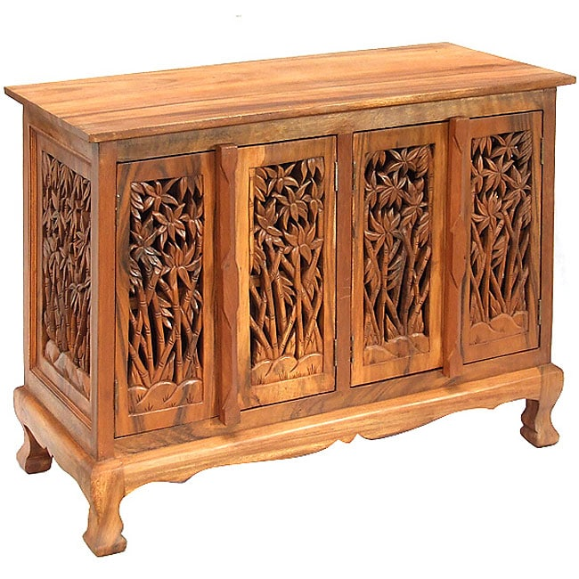 Bamboo Trees Storage Cabinet Sideboard Buffet Overstock