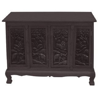 Royal Elephants Storage Cabinet / Sideboard Buffet (Thailand)
