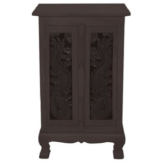 Hand-carved Dragon 32-inch Storage Cabinet
