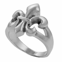 Journee Collection Sterling Silver Fleur de Lis Ring